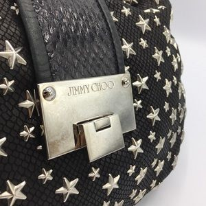 Jimmy Choo Bags - Jimmy Choo Star Studded Black Leather Shoulder Bag